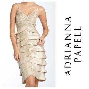 Adrianna Papell Tiered Ruffle Dress